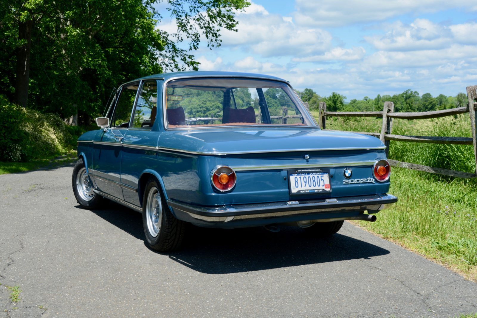 1973 Bmw 2002 Tii Finished In Riviera Blue With Saddle Interior Hunting Ridge Motors